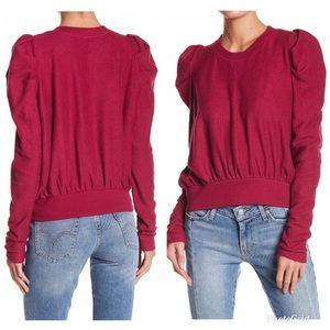 Free People Textured Zara Sweatshirt